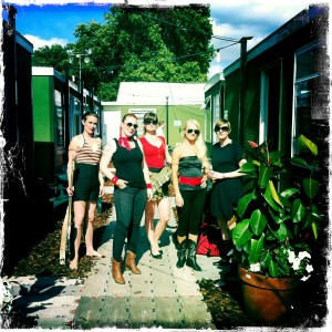 The Launderettes Hyde Park backstage