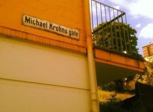 Artikkelforfatteren bor faktisk i Michael Krohns gate i Bergen!