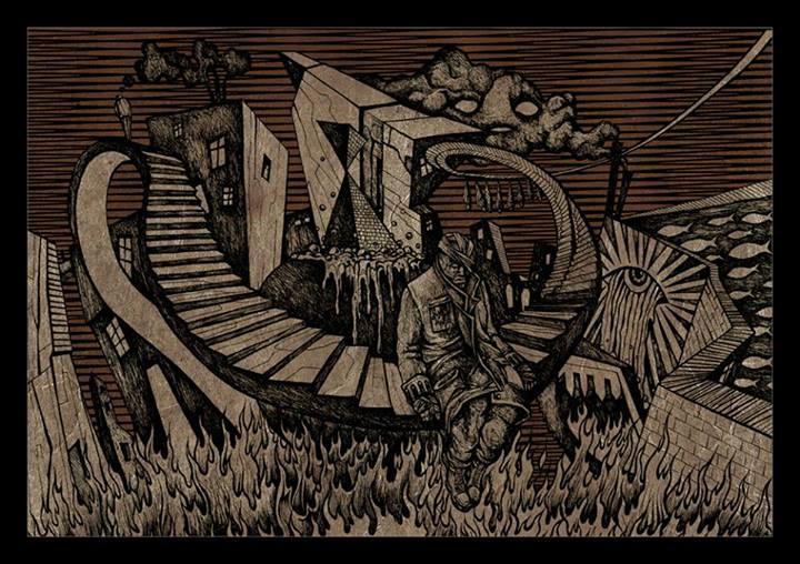 Costin Chioreanu tegner motiver fra egen hage