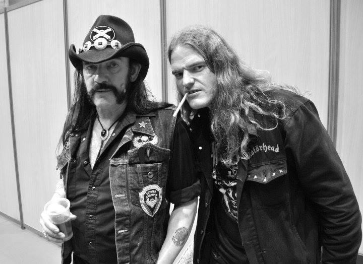 Lemmy og Tore på Hellfest 2010. Foto: Håkon Grav.